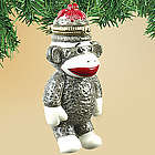 Sock Monkey Ornament with Hidden Compartment