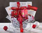 Godiva Chocolate and Truffles Sleigh Gift Basket