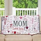 Mom's Personalized Word-Art Afghan