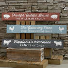 Farmhouse Kitchen Personalized Wooden Sign