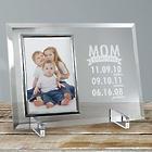 Engraved Mom Established Glass Frame