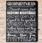 Grandparent's Rules Canvas Print
