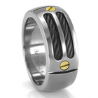 EM Sport Ring with Gold Accents