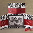 Personalized Photo Damask Gatefold Christmas Cards