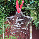 Glass Star Personalized Christmas Ornament with Bell