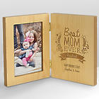 Engraved Best Mom Ever Hinged Picture Frame