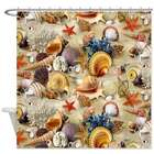 Fancy Seashell Shower Curtain