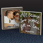 Fell In Love Double Sided Photo Bamboo Art Plaque