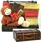 Go Wild Trunk with Mojo the Monkey Valentine's Day Gift Basket