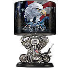 Spirit Of The Road Motorcycle Lamp with Shade Art