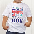 Toddler's Personalized All American Kid T-Shirt