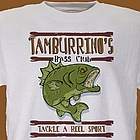 Bass Club Fishing Personalized T-Shirt