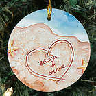 Shores of Love Personalized Ceramic Ornament