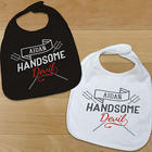 Handsome Devil Personalized Baby Bib