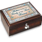 A Mother's Forever Love Music Box with Poem Card
