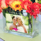 Bridesmaid's Personalized Glass Photo Vase