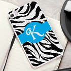 Zany Zebra White Trimmed iPhone Case Personalized