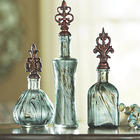 Decorative Glass Bottles Set