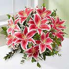 Stunning Pink Oriental Lily Bouquet Bouquet
