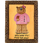 Personalized Businesswoman Bear Plaque