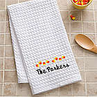 Personalized Candy Corn Kitchen Towel Set