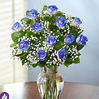 Blue Hong Kong Glitter Roses