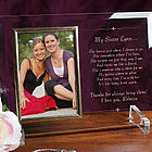 My Sister Beveled Glass Picture Frame
