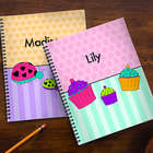 2 Large Personalized Notebooks Just For Her