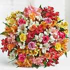 Assorted Roses and Peruvian Lilies Double Bouquet