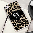 Luscious Leopard Personalized White Trimmed iPhone Case