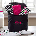 Personalized Bottle Bag with Burp Cloth Set