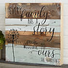 Personalized Family Story Rustic Reclaimed Wood Wall Art