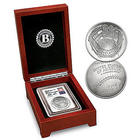 US Mint Curved Baseball Coin with Replica Nolan Ryan Signature