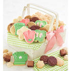 Mother's Day Cookies in Wooden Picnic Basket