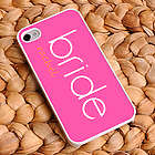 Personalized Pink Bride iPhone Case