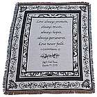 Personalized Black and White Wedding Throw