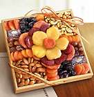 Ever Blooming Sympathy Fruit & Nuts Kosher Gift Crate