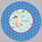 Personalized Mermaid Baby Plate