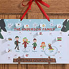 Ice Skating Family Personalized Christmas Countdown Calendar