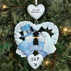 Personalized First Christmas Snow Couple Ornament