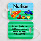 Boy's Just for Him Personalized Luggage Tag Set
