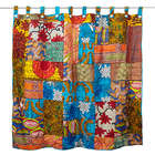 African Patch Recycled Shower Curtain