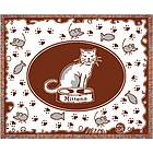 Personalized Cat Afghan