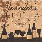 Personalized Bella Cucina Canvas Wall Art