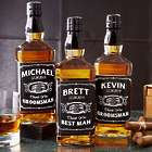 'Groomsman's Personalized Whiskey Bottle Label' from the web at 'https://img1.findgift.com/Graphics/Gifts/140/870/PR_527870.jpg'