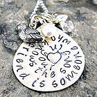 A Friend Knows the Song in Your Heart Hand Stamped Necklace