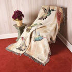 Hummingbird Floral Tapestry Throw