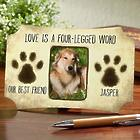 Personalized Love Is a 4-Legged Word Paw Print Picture Frame