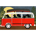 Dogs in a Mini Bus Camping Trip Rug