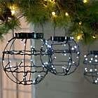 3 Mini Solar Lanterns with White LED Lights